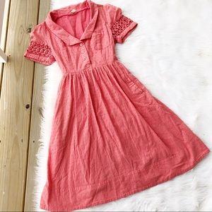 c3ad47a024 Maeve Dresses - Maeve Anthropologie Vintage Pink Apron Dress